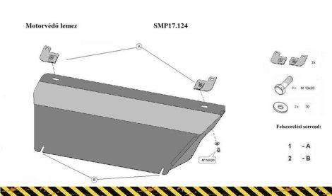 Opel Adam 2012/10 -   SMP17.124 - Motorvédő lemez