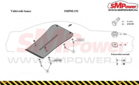 Porsche Cayenne, 2010- | SMP00.191K - Váltóvédő lemez