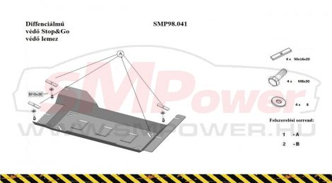Dacia Duster 2014 -  | SMP 98.041 - STOP & GO - Védőlemez