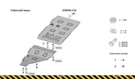 Nissan Navara D22, 1997-2004 | SMP 00.116 - Váltóvédő lemez