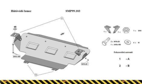 Nissan Navara, NP300, 2015-2019 | SMP99.103K - Hűtővédő lemez