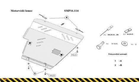 Nissan Tiida, 1.6, 2007- | SMP16.114 - Motorvédő lemez