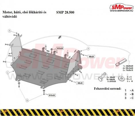 Jeep Compass,  2006 - 2016   SMP 28.500 - Motorvédő lemez