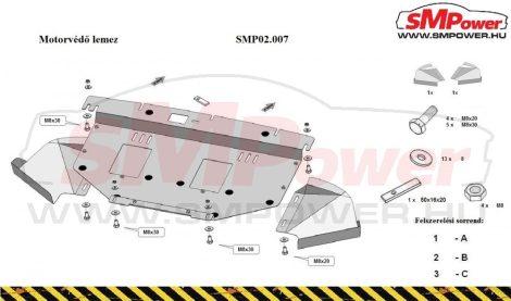 Seat Exeo, 1.9, 2.0, TDI, 2009-   SMP02.007 - Motorvédő lemez