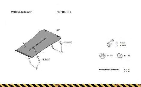 VW Touareg, 2.0, 2.5 Tdi ,3.0 Tdi ,3.2 V6, 2012- | SMP00.191 - Váltóvédő lemez